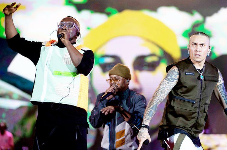 Will.I.Am, Apl.de.ap y Taboo ofrecerán un repaso por los éxitos de Black Eyed Peas y presentarán sus nuevas canciones.