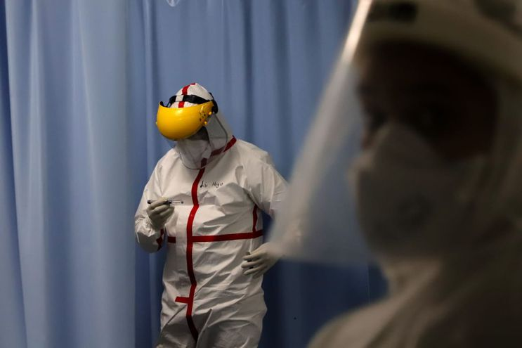 Unidad de Terapia Intensiva (UTI) del Instituto Nacional de Enfermedades Respiratorias y del Ambiente Juan Max Boettner (Ineram), donde están internados pacientes con Covid-19 (coronavirus).