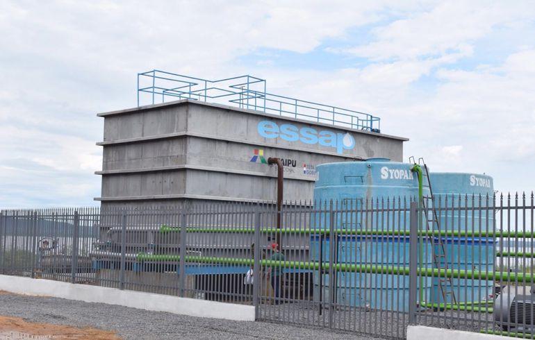 La planta potabilizadora de la Essap inaugurada ayer en zona de Punta Arena,  de  San Bernardino.