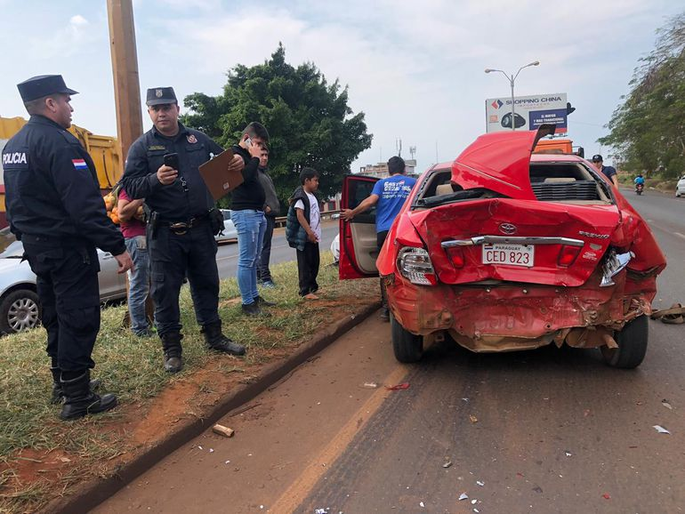 Pese a ser fuerte la colisión no hubo víctimas fatales.