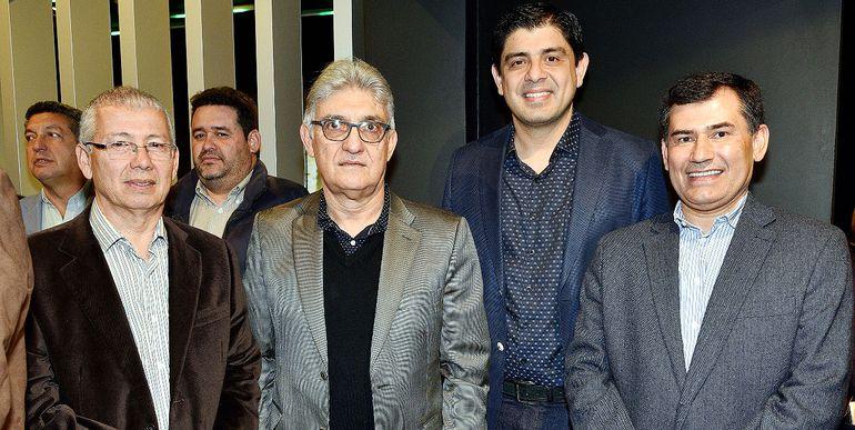 Carlos Semidei, Federico Frutos, Arnaldo Fernández  y Silvino Benítez.