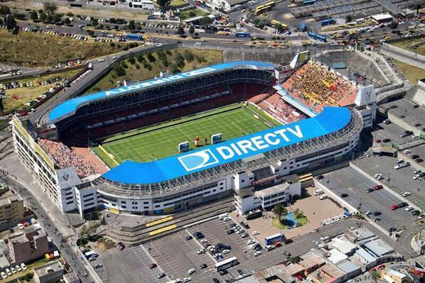 El estadio Casa Blanca en Quito.