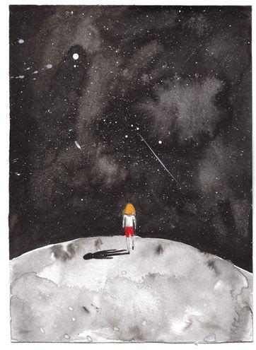 Esta es una de las obras de la artista Leticia Alvarenga, quien presenta ilustraciones realizadas en acuarela.