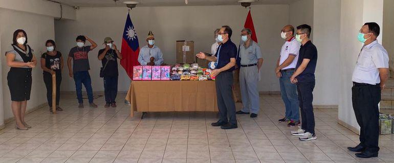 El acto de entrega se realizó en las instalaciones del Consulado General de la República de China (Taiwán).