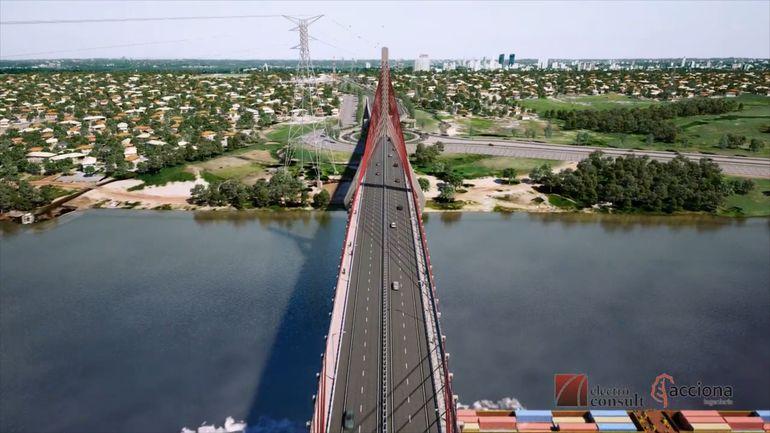 Imagen difundida por el MOPC del puente con Chaco'i.