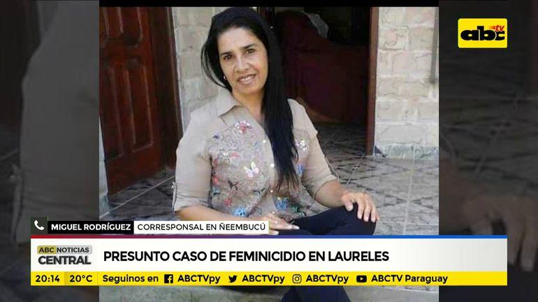 Presunto feminicidio en Ñeembucú