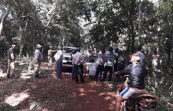 Los invasores ocupan una reserva forestal de Itaipu, ubicada en la localidad de Puerto Indio, Mbaracayú.