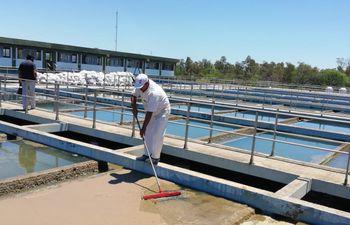 Los tanques de reservorio de la Essap se llenaron de lodo. Según el ente, se está trabajando para tratar de normalizar el servicio.