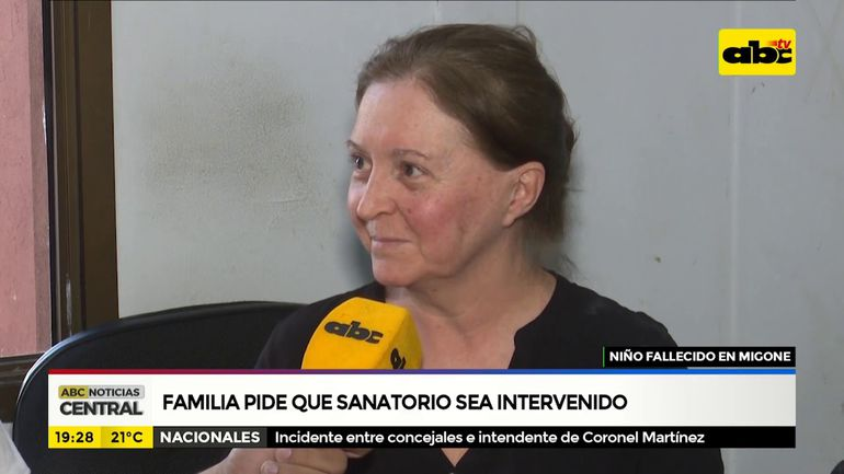Familia pide que sanatorio sea intervenido