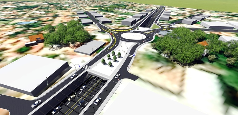 Maqueta de lo que será el túnel de Tres Bocas, que afecta a 65 propiedades privadas que deben ser expropiadas para que las obras se puedan iniciar.