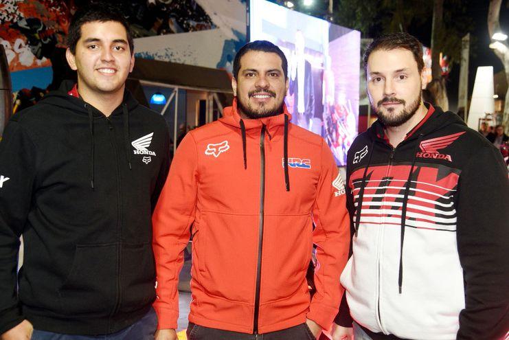 Santiago Cabral, José Martínez y Mariano Camargo.