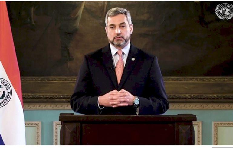 El presidente,  Mario Abdo Benítez, dio un discurso grabado ante la ONU, el cual  fue presentado por Alberto Esteban Caballero consejero de la Misión Permanente del Paraguay ante dicho organismo internacional.