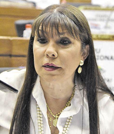 Celeste Amarilla, diputada (PLRA). La legisladora lamentó el tenor del mensaje del presidente Mario Abdo Benítez.