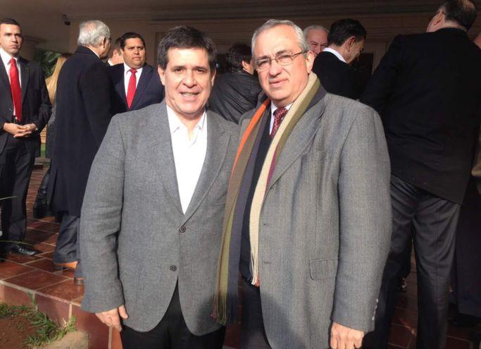 """José Sebastián """"Nené"""" Burró Franco y el expresidente de la República Horacio Cartes."""