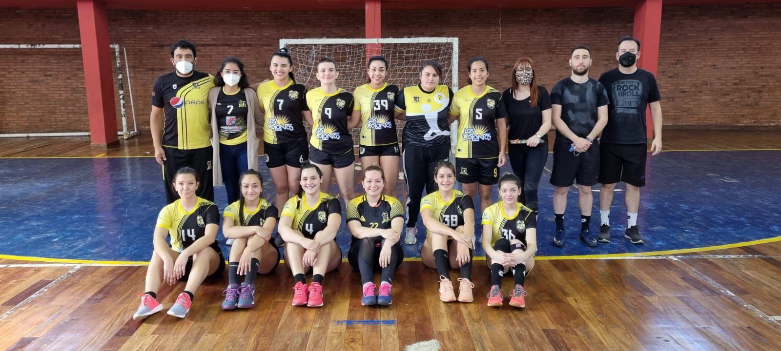 Team de la Federación de Handball de Colonias Unidas, jugó el amistoso en Encarnación.