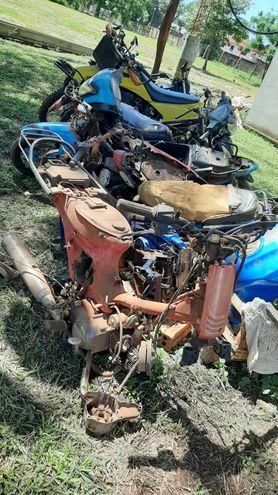 La fiscalía dispuso la incautación de 12 motocicletas desarmadas que se encontraban en un taller mecánico.