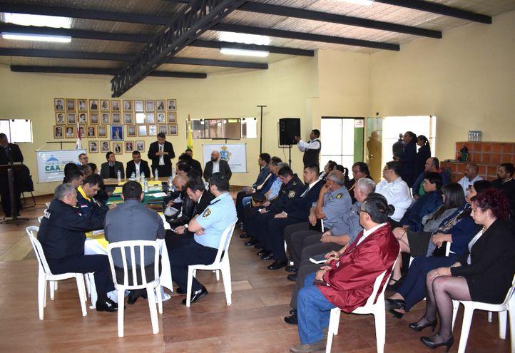 La reunión interinstitucional Operativo Caacupé 2019 tuvo lugar  en el salón de actos de la Municipalidad.
