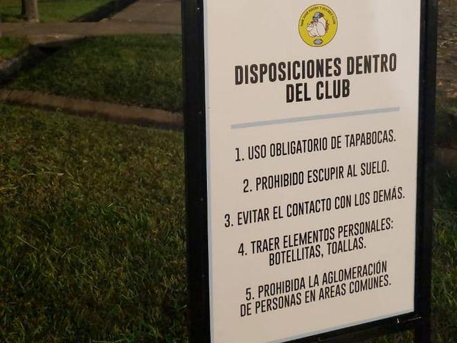 San José habilitó la sede del club para el entrenamiento individual de los socios.