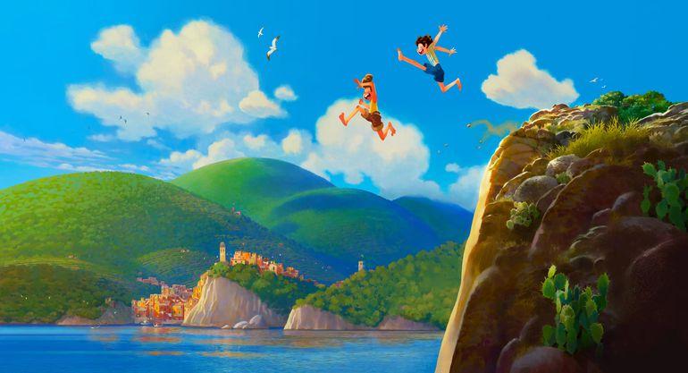 "Arte conceptual de ""Luca"", la próxima película de Pixar."