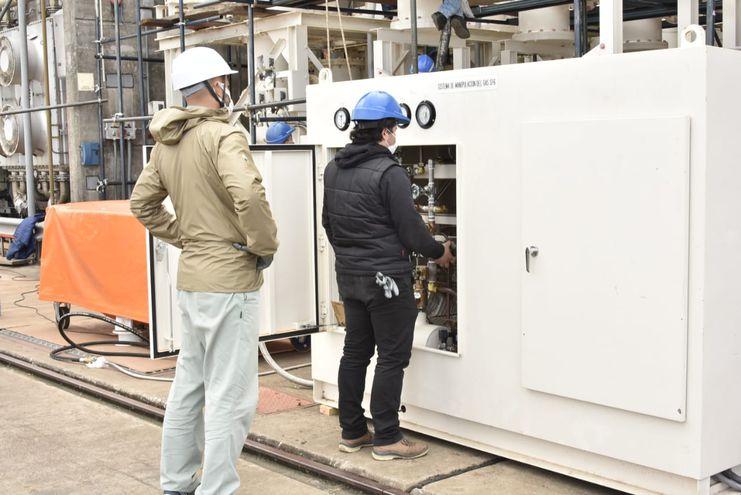 Trabajos de instalacion de equipos para LP1