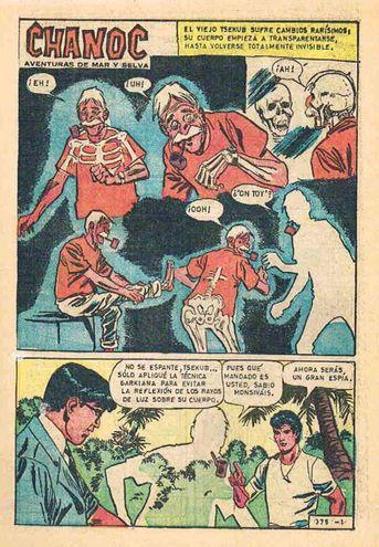 El Sabio Monsiváis en la historieta mexicana Chanoc.