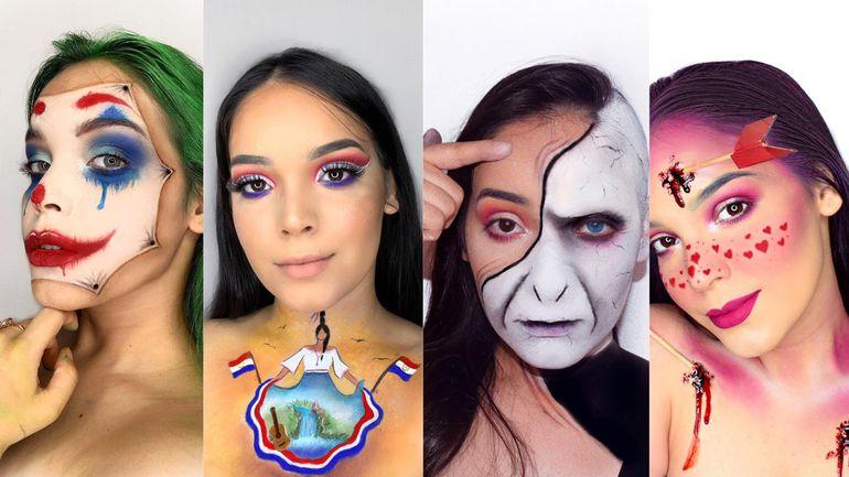 Antonella Valdez (21), profesional en make up social y artístico, demuestra que el arte de maquillar no solo se enfoca en la belleza.