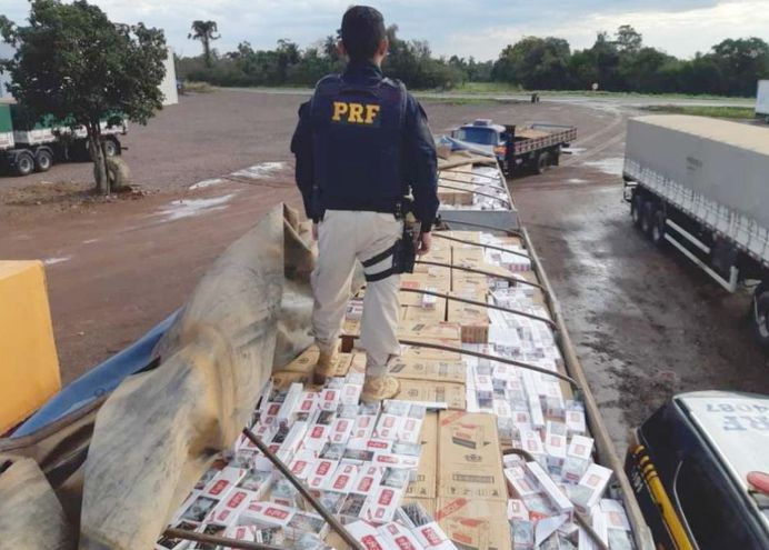 Incautación en Brasil de cigarrillos paraguayos ingresados de contrabando. El GAFI advierte su vínculo con lavado de dinero.