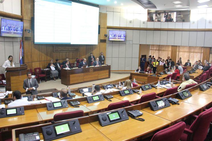 Pleno de la Comisión Permanente del Senado durante la sesión de este martes.
