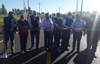 El Presidente inauguró obras viales en el departamento de Caaguazú.
