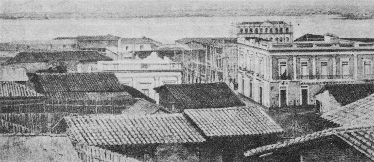 Fotógrafo desconocido: Vista de Asunción, circa 1860, daguerrotipo.