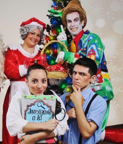 """Bailes y juegos ofrecerá la obra teatral infantil """"Investigando la Navidad""""."""