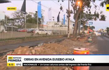 Zona de obras en Eusebio Ayala