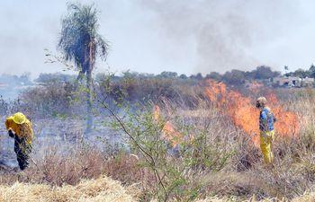 Desde junio, se vienen registrando varias quemas y propagación de incendios en pastizales, sobre todo en el territorio chaqueño.