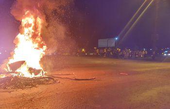 Los manifestantes se concentraron en el Km 333 (ex Km 10) de Ciudad del Este.