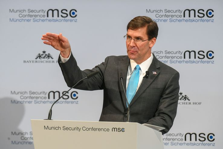 Mark Esper, secretario estadounidense de  Defensa.