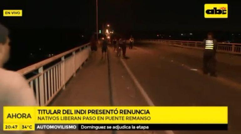 Nativos liberan paso en puente Remanso tras la renuncia de Allen