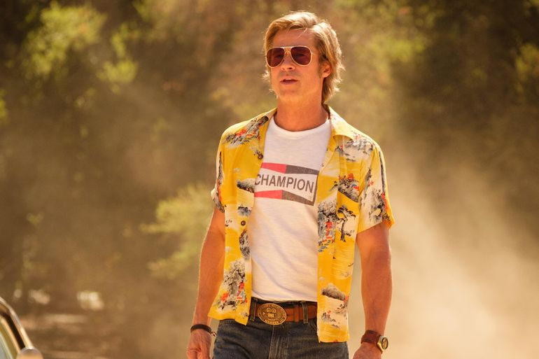 """Brad Pitt en """"Había una vez en Hollywood"""".S"""