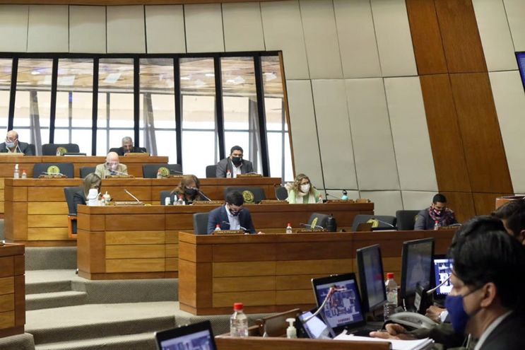 Sesión en la Cámara de Diputados, hoy.