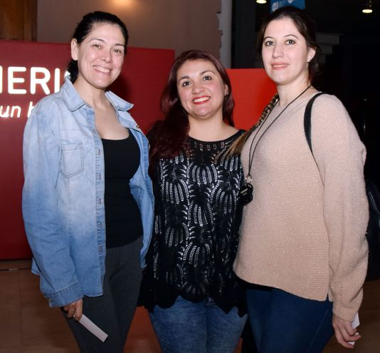 Asir Maidana,  Marian Lima y Leticia Martínez.