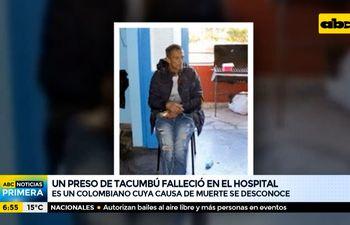 Un preso de Tacumbú falleció en el Hospital de Barrio Obrero