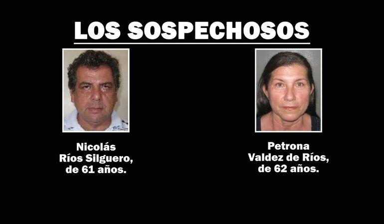 La pareja identificada y que es sospechosa de haber atropellado al ciclista, este domingo en Mbocayaty, Guairá.