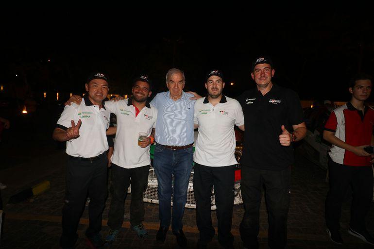 Marcelo Toyotoshi, Gustavo Scheid, Marco Galanti (padre), Alejandro Galanti, Marco Galanti (hijo), Rally del Chaco.