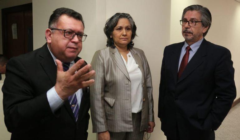Los camaristas Aniceto Amarilla, Miryam Meza e Isidro González, enjuiciados por el Jurado de Enjuiciamiento de Magistrados.