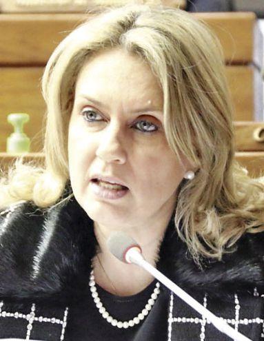 Rocío Vallejo (PPQ), candidata de la multibancada opositora a la vicepresidencia de la Cámara de Diputados.