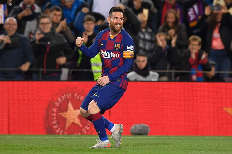 Lionel Messi anotó tres goles en la victoria del Barcelona.