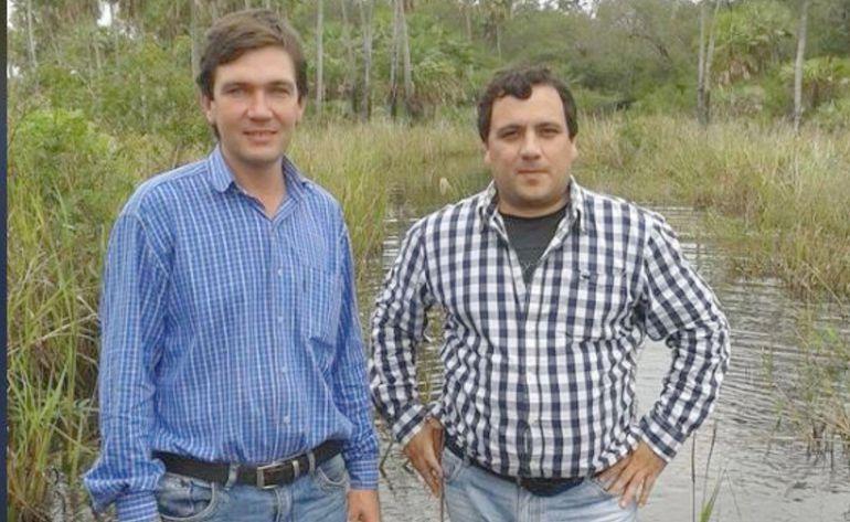 Esequiel Bogado Ros junto con su primo Gustavo Dos Santos Ros.