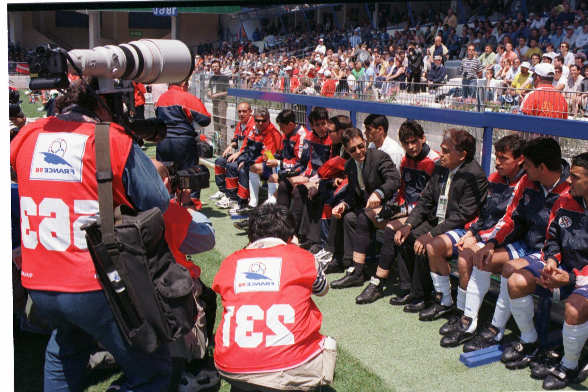 Paraguay igualó sin goles con Bulgaria en el Mundial de Francia 1998.