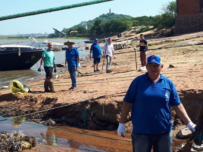 Los pescadores se enfocaron en la zona de Itá Enramada.