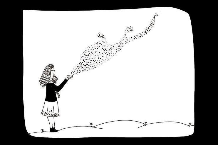 Una ilustración de la artista Rebeca Benítez.