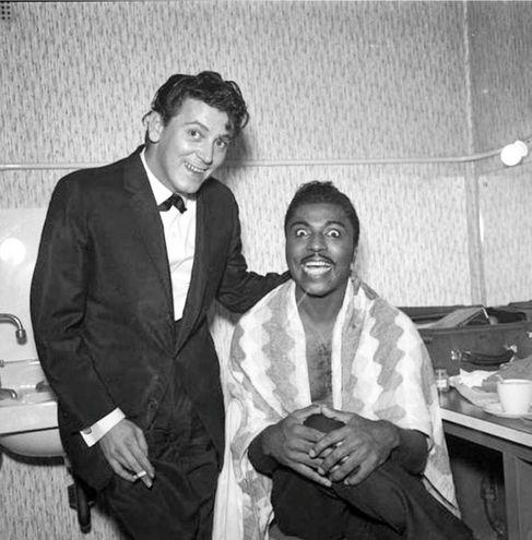 Little Richard con Bill Haley, 1956.